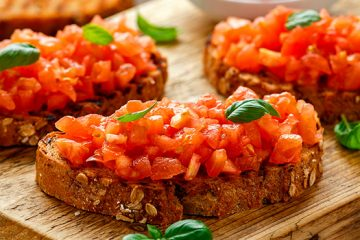Canned Bruschetta Tomatoes Are A Great Appetizer Idea | ultimatefoodpreservation.com